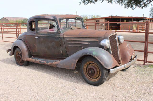 1934 Chevrolet Coupe original paint/patina 5 window hot rod/rat rod