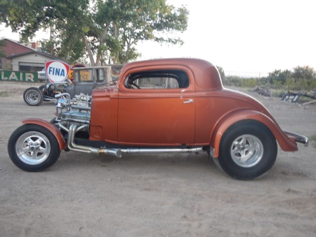 1934 CHEVY 3 WINDOW COUPE HOT STREET ROD PROJECT CAR 1932 1933 FORD