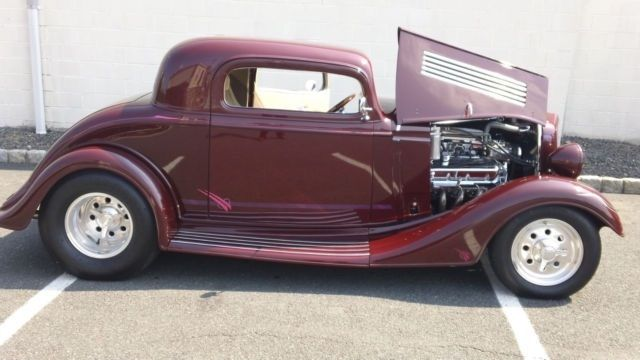 1934 chevy 3 window coupe hotrod custom built with 454 for 1934 chevy 5 window coupe