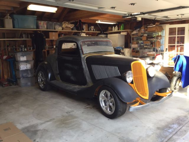 1934 Ford 3 WINDOW ALL STEEL UNCHOPPED ORIGINAL
