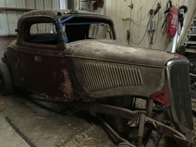 1934 ford 3 window coupe roller original henry steel 3w for 1934 ford 3 window coupe project for sale