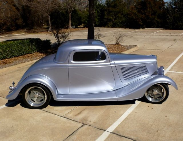 1934 ford 3 window custom coupe street rod with trailer for 1934 ford 3 window coupe custom