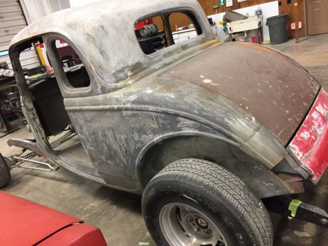 1934 Ford 5w Coupe Body Chassis Winters Quickchange