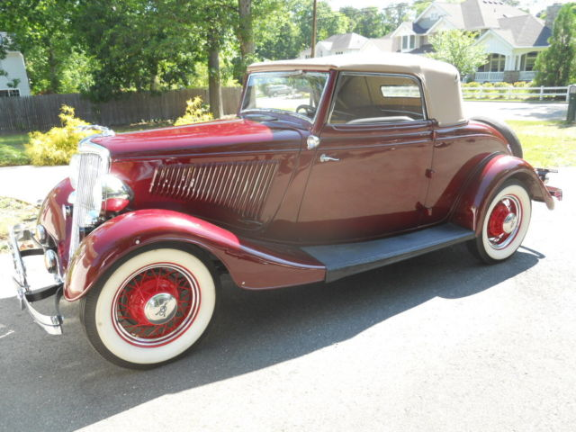 Ford Flathead V8 For Sale 1934 Ford Cabriolet Convertible Coupe,Roadster for sale: photos ...