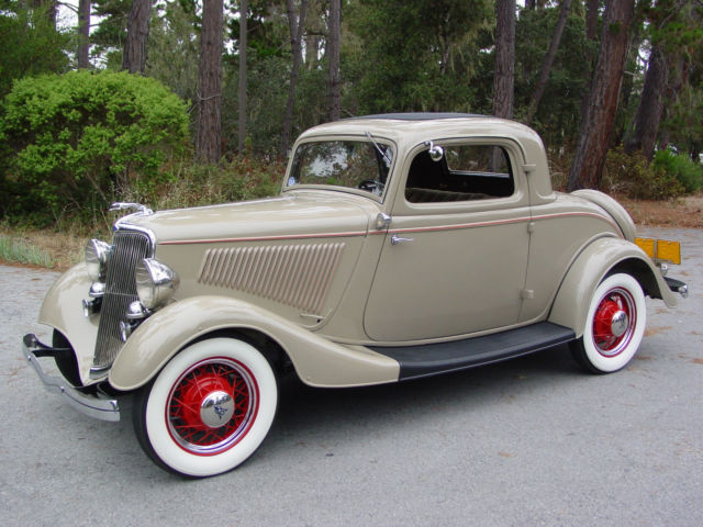 1934 ford deluxe three window coupe 32 33 miles for sale for 1934 ford 3 window coupe pictures