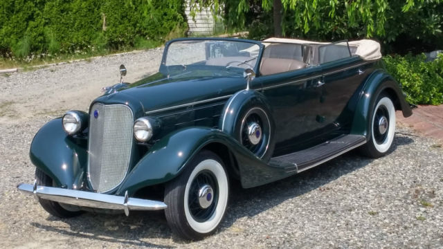 1935 Lincoln Lebaron conv sedan with roll up division window