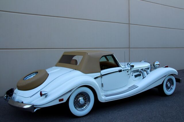 1935 White Mercedes-Benz 500K 540K Heritage Oldtimer Roadster -- with Brown interior