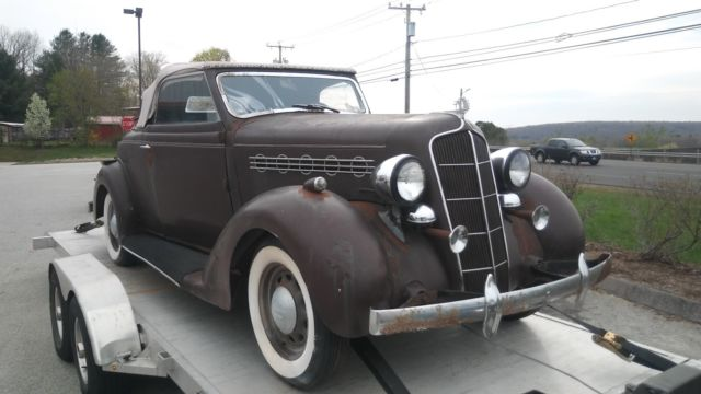 1935 PJ Plymouth Convertible Coupe Rumble Seat, Only 4 Left
