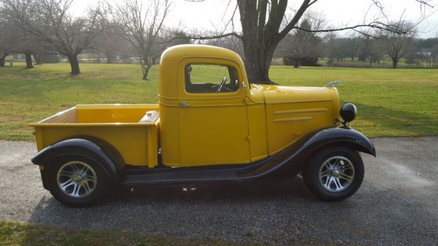 1936 chevrolet chevy pickup truck old school streetrod 327 v8 auto dependable for sale photos. Black Bedroom Furniture Sets. Home Design Ideas