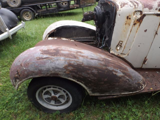 1936 Chevy 5 window Coupe for restoration, on rolling