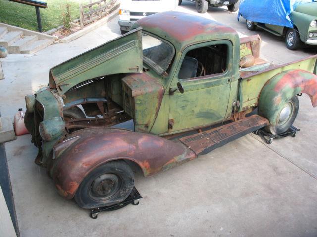 1936 Dodge Pickup Original Restoration Rod Parts Project