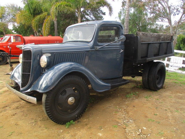 1936 Blue Ford Other Pickups 1 1/2 Ton Dump Truck Truck with Black interior