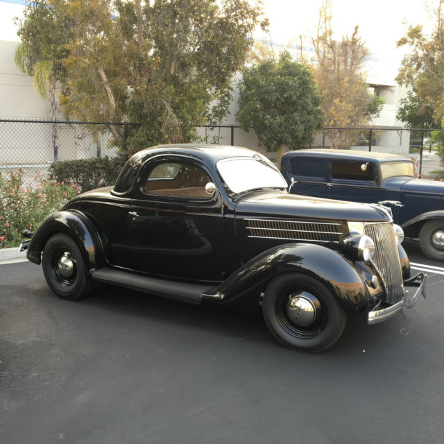 1936 ford coupe 3 window coupe black flathead 3speed hot for 1936 ford 3 window for sale