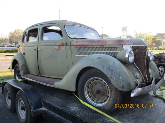 1936 ford flathead sedan 4 door hump back rat rod for 1936 ford 4 door sedan for sale