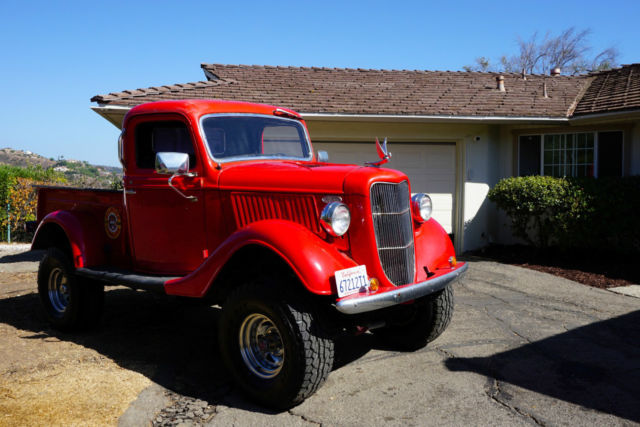 "1936 Ford Truck Lifted on 33"" ATs, 4X4 Restomod Very ..."