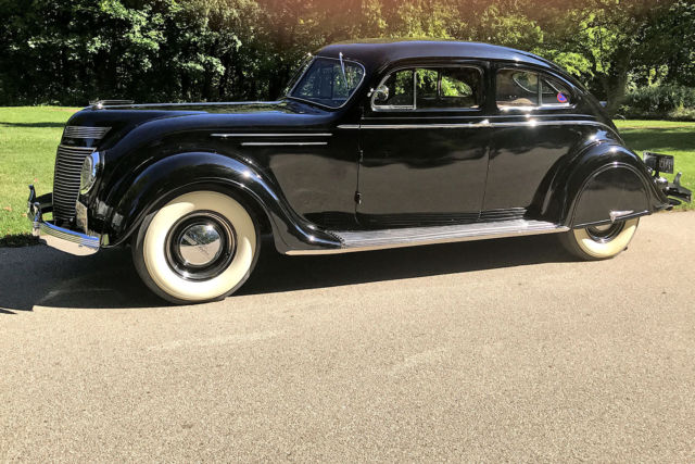 1937 Black Chrysler Other Coupe with Tan interior