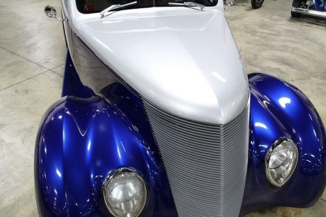1937 Blue Ford Coupe Coupe with Tan interior