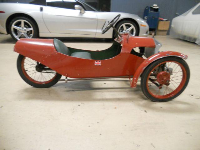 1937 Morgan 3 Antique Pedal Car All Metal Extemely Rare