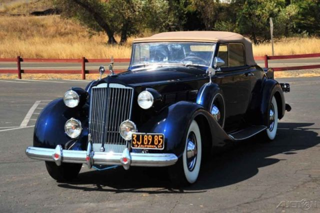 1937 packard model 1501 super eight convertible roadster for 1937 packard 3 window coupe