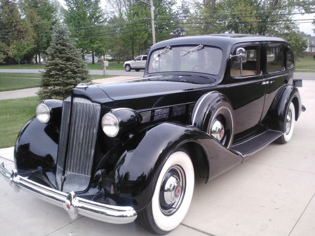 1937 Packard Touring Sedan With Divider Window and a Jump Seat