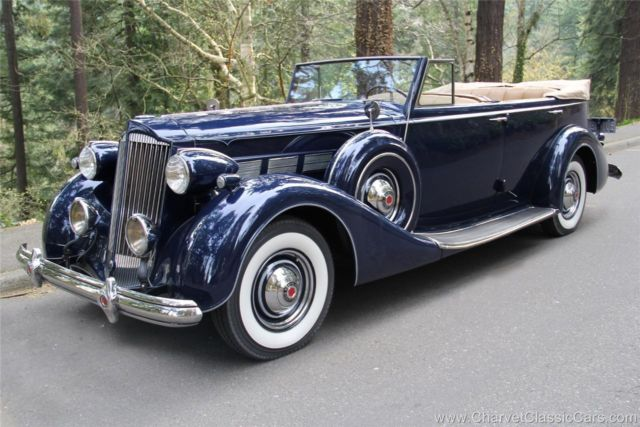 1937 Packard Super Eight Convertible Sedan. GORGEOUS. See VIDEO TEST DRIVE.