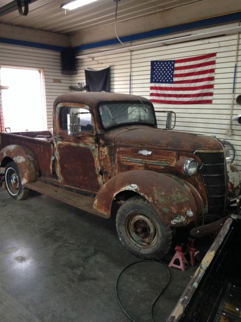 1938 Chevrolet Pickup, truck, restore, rat, hotrod, patina ...