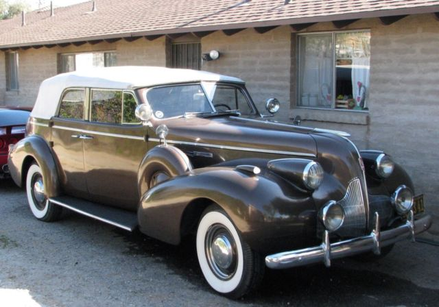 1939 Buick Roadmaster Phaeton Convertible Brown Dual Side Mount For
