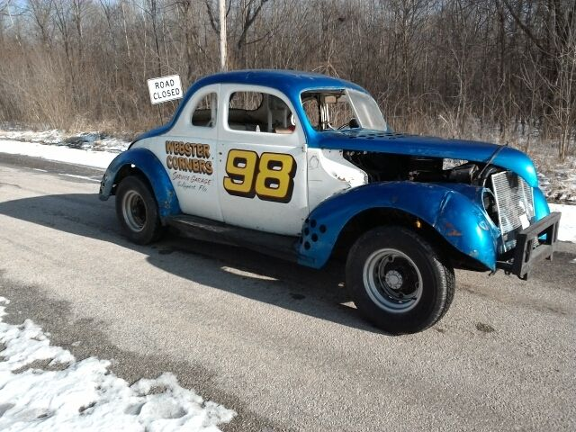 Drag Cars For Sale Northern California: 1939 FORD COUPE STOCK CAR RACER VINTAGE ANTIQUE RACE RAT