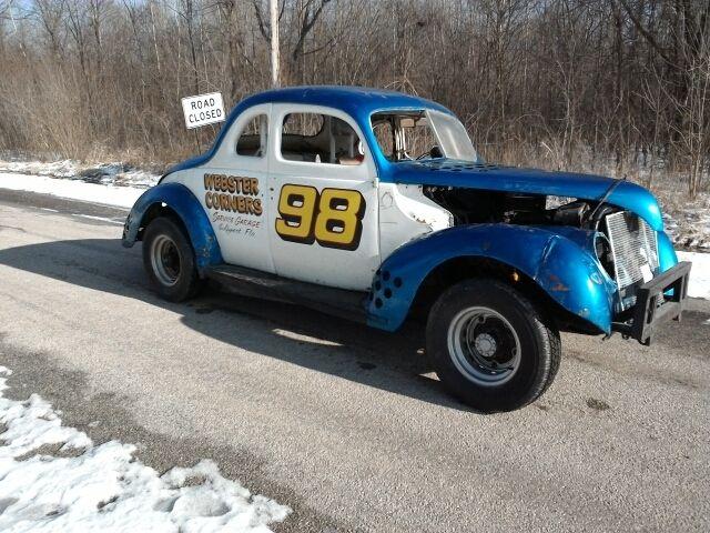Ford Coupe Stock Car Racer Vintage Antique Race Rat Rod Nostalic Museum