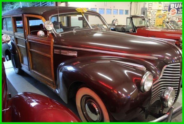 1940 Buick Woody Estate Wagon 59 Used Manual, Rebuilt