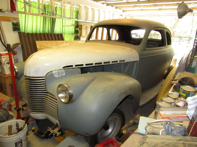 1940 Chevy 5 Window Coupe All Steel Body 2 Motors Excellent