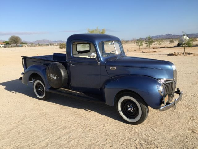 1940 ford 1 2 ton pickup truck for sale photos technical specifications description. Black Bedroom Furniture Sets. Home Design Ideas
