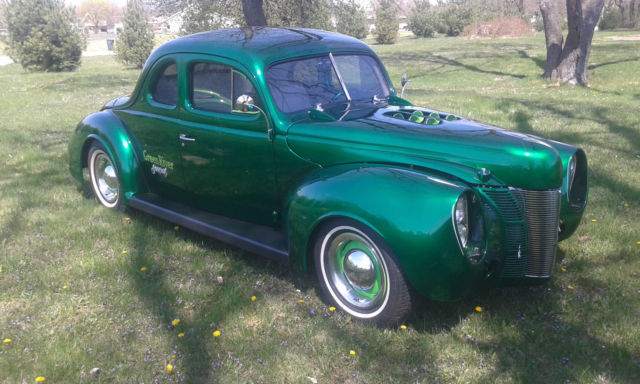 1940 ford 5 window coupe hot rod custom vintage chopped rat rod lead sled for sale photos. Black Bedroom Furniture Sets. Home Design Ideas