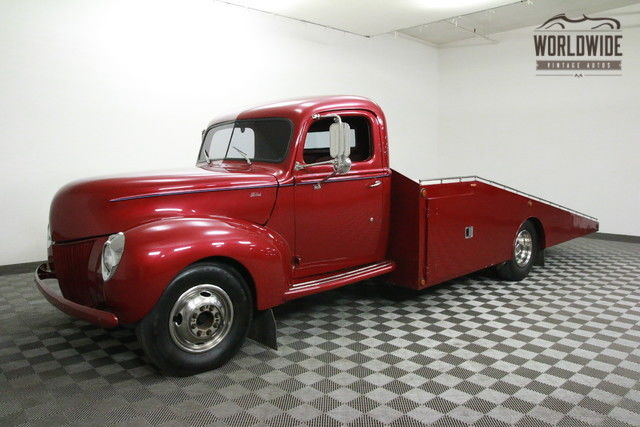 1940 Ford CAR HAULER RESTORED CUSTOM. 460 V8! AC! AUTO!