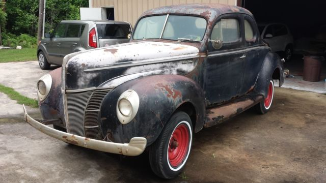 1940 Ford Deluxe Coupe Old Hot Rod Traditional Custom Barn Find For