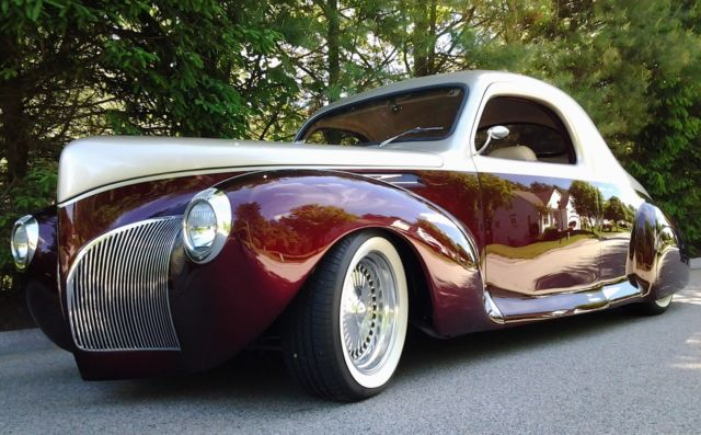 1940 Lincoln Zephyr 3 Window Full Custom Coupe For Sale Photos