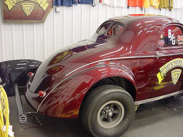 1940 Willys Gasser Texieria and Son, NHRA record B/G ET and
