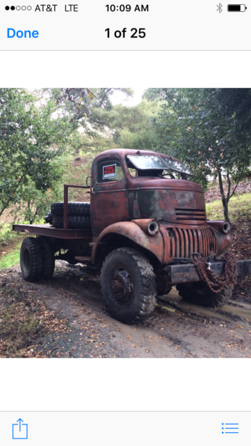 1941 Chevy Coe 4x4 For Sale Photos Technical