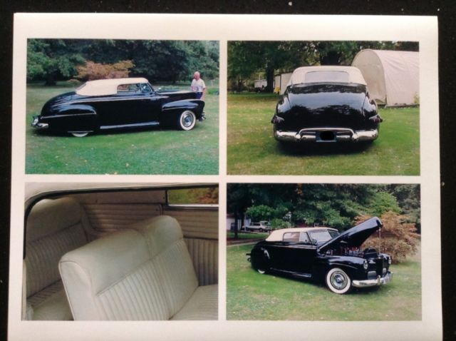 1941 Black Ford Convertible Custom Convertible with White interior