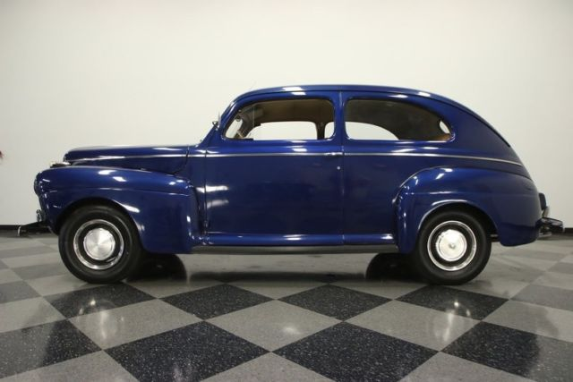 1941 Blue Ford Tudor Sedan Coupe with Beige interior