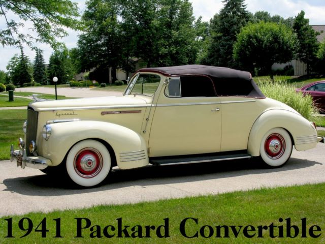 1941 Packard One-Ten Special Convertible (1489) 50K Miles