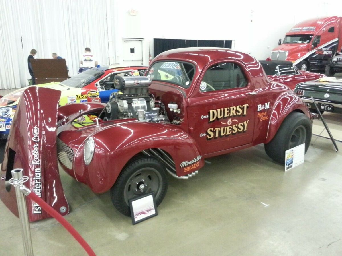 1941 Red Willys 441 Americar Coupe with Black interior