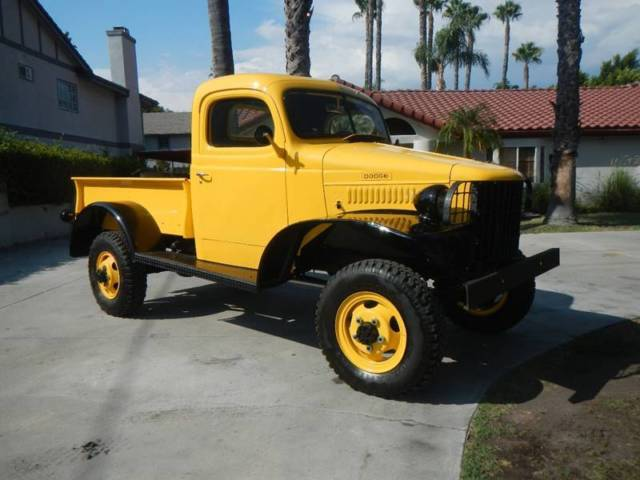 1942 Yellow Dodge Power Wagon Power Wagon Pickup Truck with Black interior