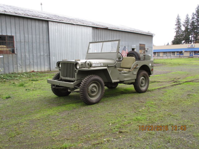 1942 Willys Jeep Mb3 For Sale Photos Technical Specifications