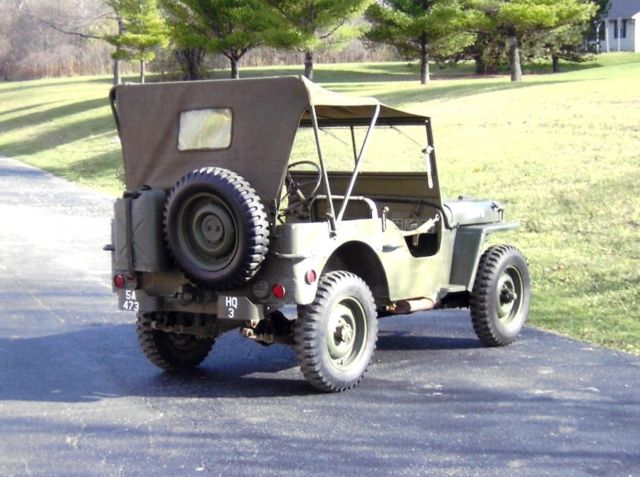 1943 Willys MB Ford GPW Military Jeep WWII Willys