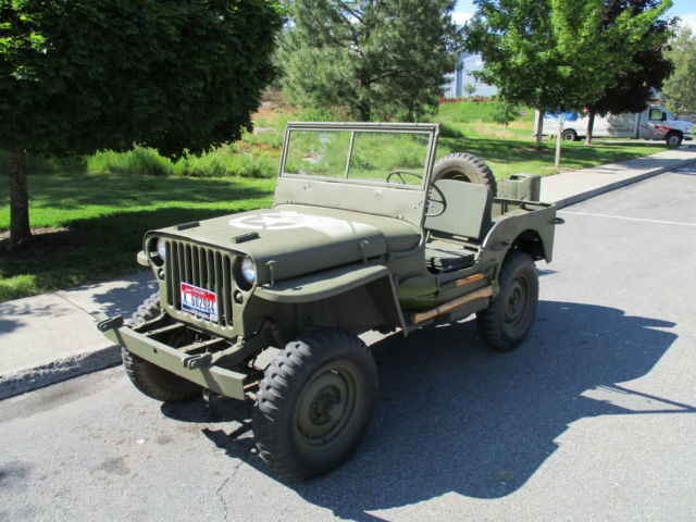 Flat Fender Jeep >> 1943 Willys Mb Jeep Flat Fender For Sale Photos Technical