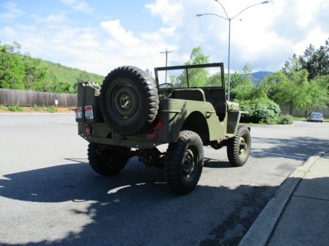 willys mb jeep flat fender  sale  technical specifications description