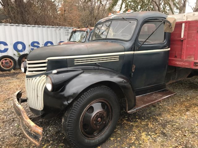 1945 Black Chevrolet Other Pickups grain dump with Tan interior