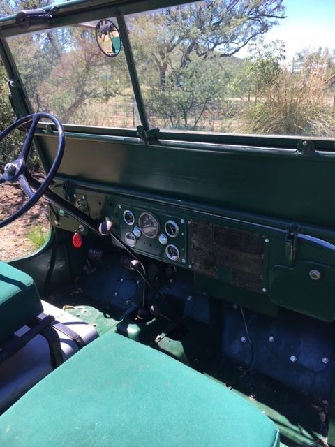 1945 Green Willys MC M38 Jeep with Green interior