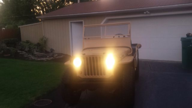 1945 Tan Willys CJ-2A with Black interior